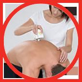 Meting van de wervelkolom door een fysiotherapeut